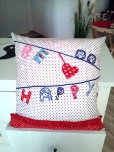 Fröhliches Kissen für Euer Zimmer