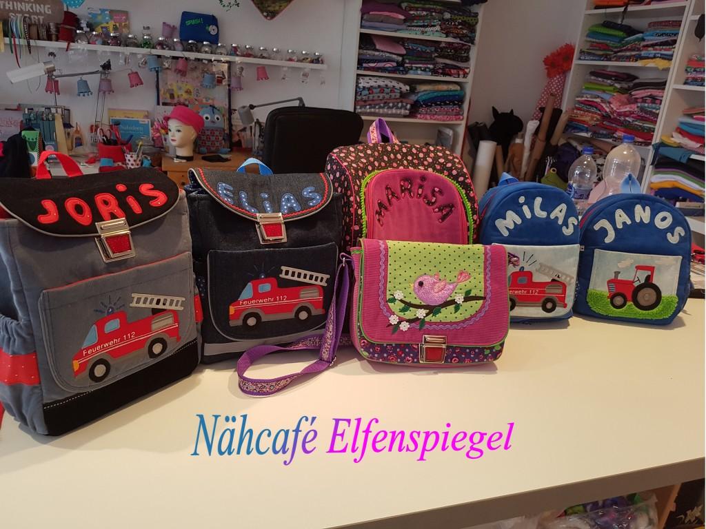 Jeden Sommer werden hier Kindergartentaschen in Auftrag gegeben und mit viel Liebe zum Daetail angefertigt.