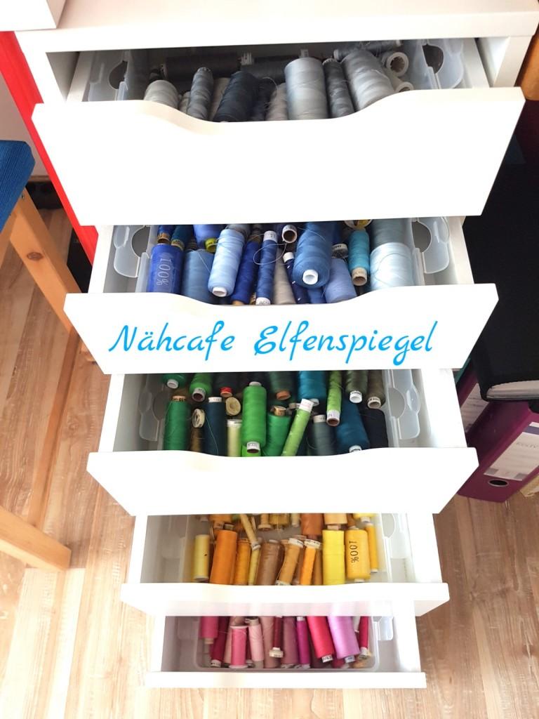 """Nähgarn gibt es in der Werkstatt in vielen schönen Farben. Wenn Sie nicht gerade einen """"Exoten"""" brauchen, werden Sie hier fündig."""