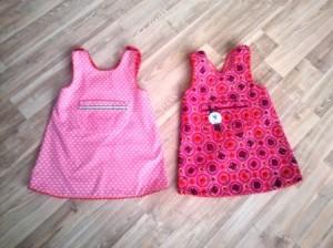 Das doppelte Lottchen...Das Kleid wurde für Zwillinge verkauft. Ich habe dann auch noch von innen Taschen aufgenäht, so sind es jetzt Wende-Kleidchen.