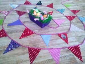 Eine schöne Wimpelkette ist ein toller Schmuck fürs Kinderzimmer oder für Geburtstags-Feste.