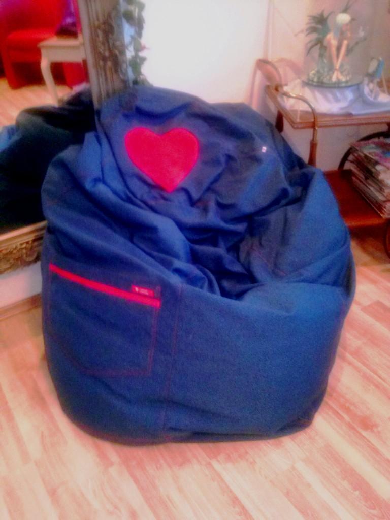 Dieser knuffige Sitzsack war ein tolles Geburtstags-Geschenk !